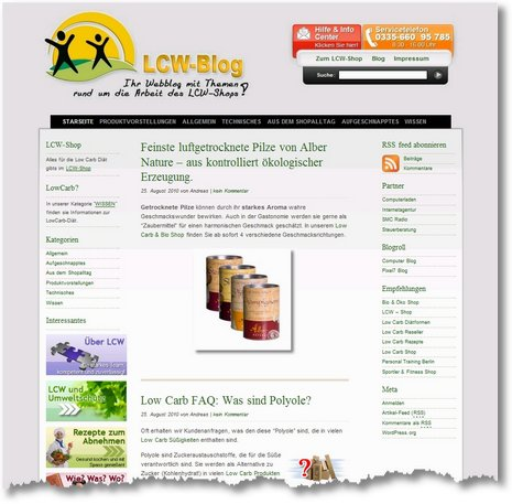 low carb und bio shop blog neues design