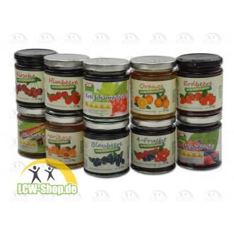 Low Carb Marmeladen von LCW-Fruity mit wenig Kohlenhydraten